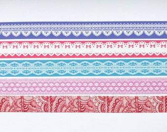 "Lace Washi Tape Sample - 24"" sample"