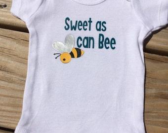 Sweet As Can Bee Onesie - Short or Long Sleeves
