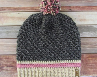 Hand Made Crochet Slouchy Hat