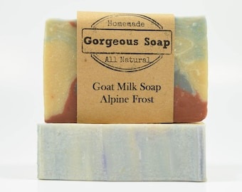 Alpine Frost Milk Soap - All Natural Soap, Handmade Soap, Homemade Soap, Handcrafted Soap