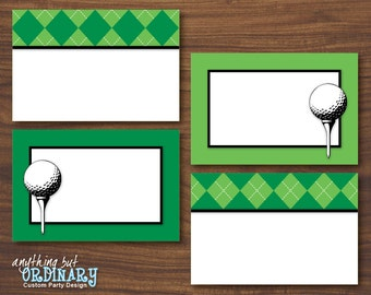 Golf Party Buffet Cards, Editable ParTEE Printable Food Labels, Table Tents, INSTANT DOWNLOAD, digital file