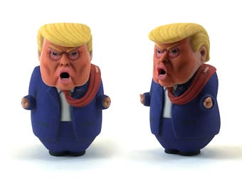 3D Printed Trump Caricature: Not My President - Impeach Traitor Trump - Lock Him Up - Russian Putin Hacking Collusion