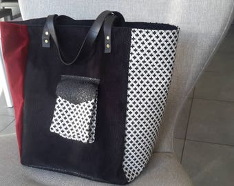 Tote so chic, black and Red