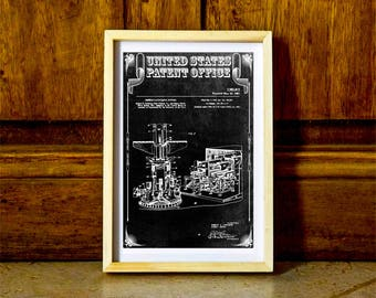 Navy Missile Launcher Patent 1961 – Space Art, Space Poster, Pilot Gift, Rockets, Missiles