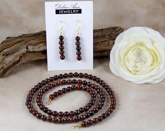 """24"""" Poppy Jasper Necklace & Earring Set"""