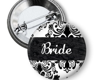 Bridal Party Button - Bachlorette Party Button - Custom Bachlorette Party Buttons - Wedding Party Gift -Bridal Buttons - Bridal Party Pin