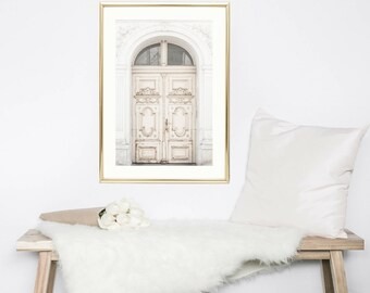 Glam Wall Prints // White Door // Gallery Wall Prints // Paris Photography // Door Wall Art // Paris Gifts For Her // Paris Decor Bestseller