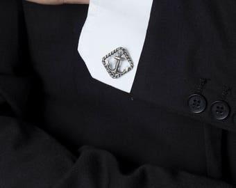 Nautical Cufflinks – Sterling Silver Anchor Cufflinks Perfect for Nautical Wedding Groomsmen Gifts