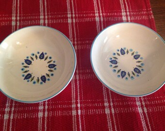 Set of Two Marcrest Swiss Alpine/Swiss Chalet Berry Bowls!