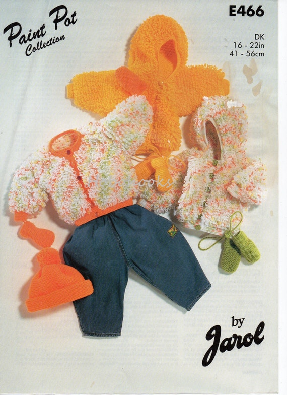 Baby Loopy Jackets Knitting Pattern Pdf Download Loop Stitch