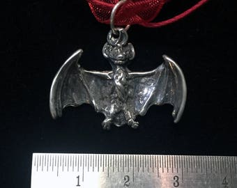 Sterling silver bat pendant