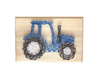 DIY Tractor deco - String art kit - Boy gift - DIY Tractor - Farmhouse sign - DIY String Art, Tractor Art
