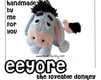 Handmade Eeyore the loveable donkey