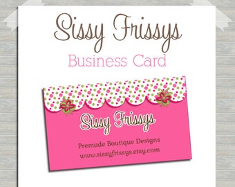 Hair Bow Business Card - Hairbow Digital Business Card File - Earring Card - Jewelry Card - Hang Tag - Mom Card - Play Date Card - 208139088