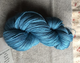 Blue Faced Leicester and silk lace weight yarn