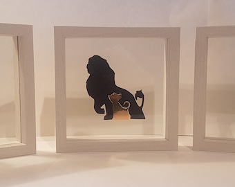 Individual Disney Character Silhouette Frames