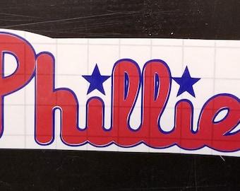 Philadelphia Phillies Vinyl Decal, Baseball Decal, Phillies, Philadelphia, Baseball