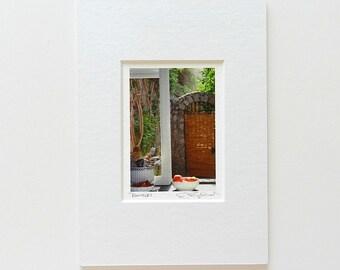 Stocking Stuffer, Miniature Art, Positano Italy Photography, Italian Kitchen Print, Small Art, Travel Photography, Italian Villa Tiny Art