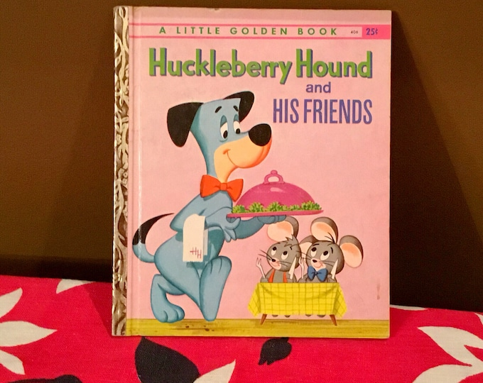1960 HUCKLEBERRY HOUND and His Friends Vintage Little Golden Book