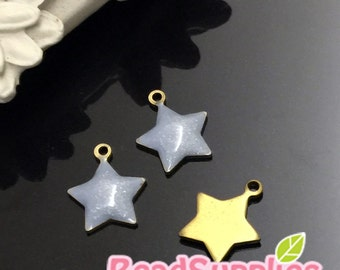 CH-EX-08001LGSD- Puffy Star Dust, light grey, 4 pcs