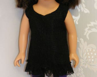 "Handmade Lacy Top and Leggings for 18"" 'American Girl Doll'."