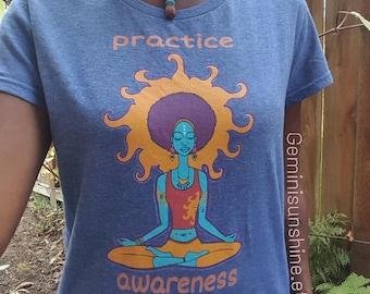 Praxis Bewusstsein Frauen kurze Ärmel t-shirt