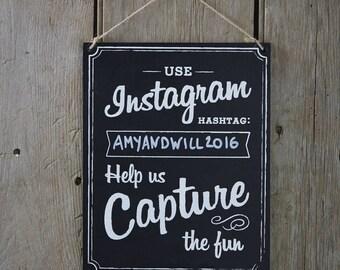 Large Wooden Vintage Instagram Sign