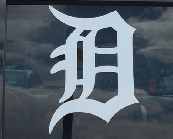 Detroit D Car Window Decal