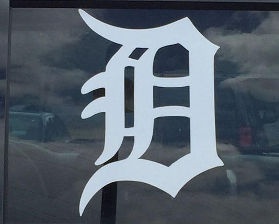 Detroit d vinyl window decal detroit tigers d vehicle decal