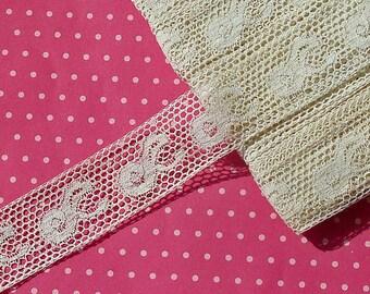 Antique Lace Vintage Lace Valenciennes Lace Cotton Paisley