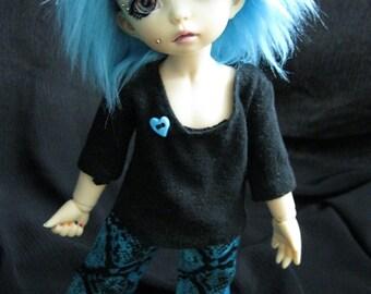 Chemise noir LTF/YOSD et serpent bleu Pant ensemble soldes prix