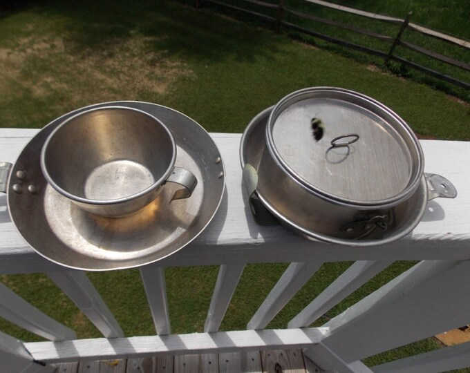 Boy Scout of America marked mess kit vintage made by Wearever