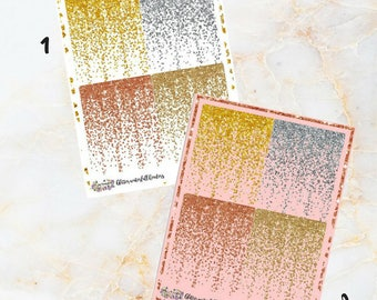Glitter Waterfall Headers for your Planners