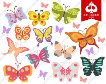 Butterflies Butterfly Digital Clipart for Personal and Commercial Use