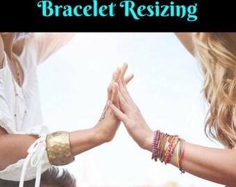 Bracelet Resizing