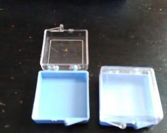 1 X 1 plastic boxes- repurposed