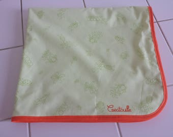 Bath small animals green fabric and bamboo Terry