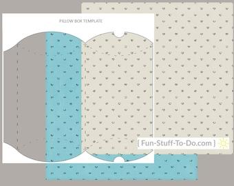 Pillow Box - Digital Transparent Overlay Template Package