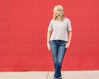 Fancy Tiger PATTERN - Sailor Top - Sizes XS to XXL