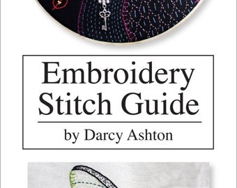 Embroidery Stitch Guide -- Hand Embroidery Stitches -- Embroidery Tutorial -- Unique Hand Embroidery Stitch Guide