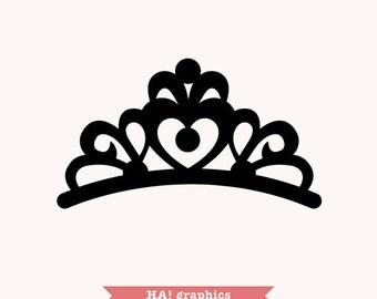 tiara silhouette etsy rh etsy com tiara clip art free download tiara clip art free download