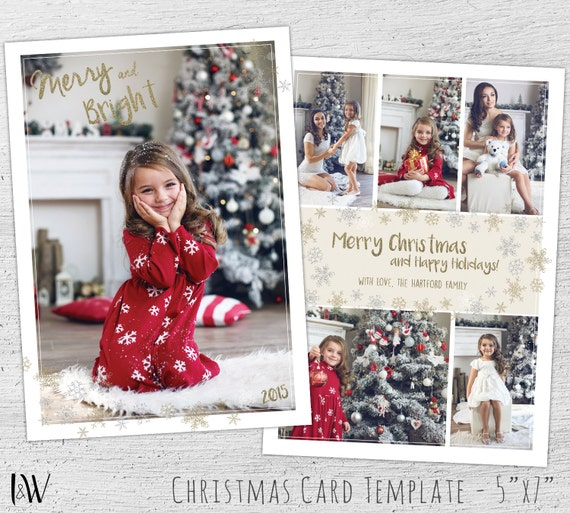christmas card collage templates fieldstationco throughout with ...
