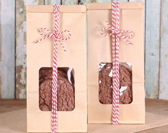 Christmas Cookie Bags, Brown Tin Tie Bags, Half Pound Bags, Candy Buffet Bags, Wedding Favor Bags, Cookie Bags, Coffee Bags, Bakery Bags