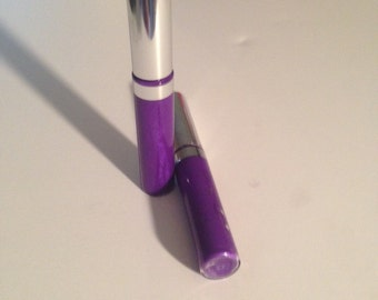 Natural Organic Violet Lip Gloss/ Balm One Tube,Coconut Oil ,  Lip Gloss /Balm