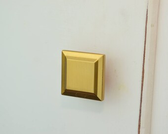 Geometric Gold Drawer Knobs, Brass Drawer Pull, Cabinet Pull, Cabinet Knobs