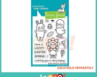 Lawn Fawn Clear Stamp Set - Easter Party