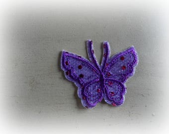 1 patch fusible patch / applique Butterfly in shades of purple 7.5 * 6 cm