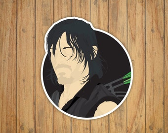 Daryl Vector Portrait (The Walking Dead) Decal/Sticker