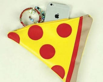 Pizza clutch purse