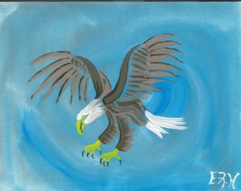 Acrylic Eagle painting digital copy